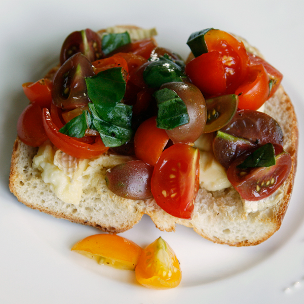 Brie Toast with Truffled Tomato Bruschetta - Sarah's ...