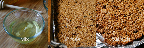 Easy Crispy Fruit and Nut Granola Bars - Sarah's Cucina Bella