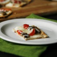 Mushroom Tomato Flatbread Pizza for Two