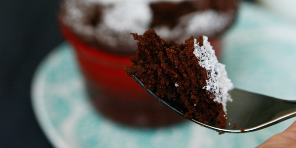 Quickie Molten Chocolate Cake For One