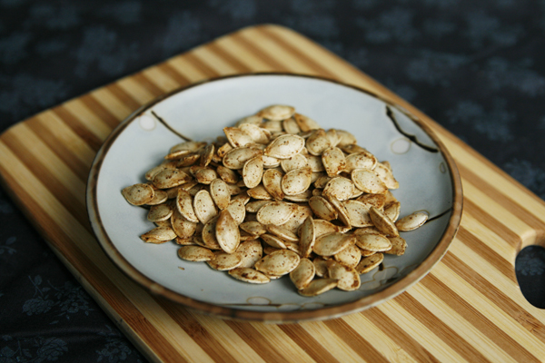 Roasted Five Spice Squash Seeds