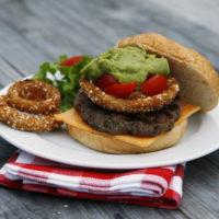 Loaded Guacamole Onion Ring Burger