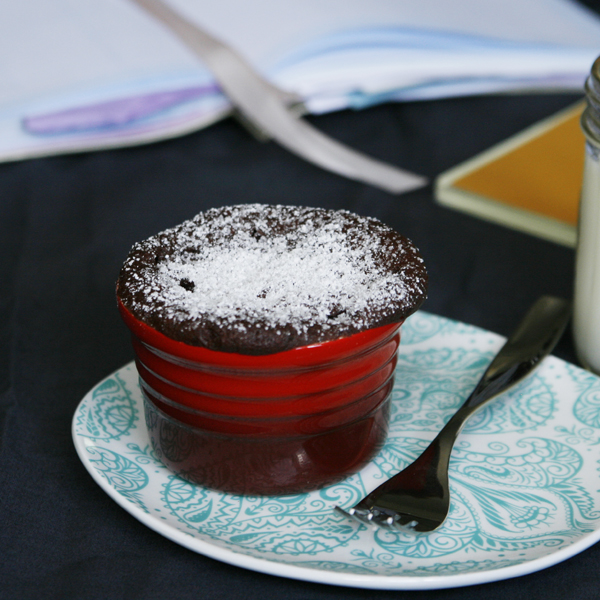 Quickie Molten Chocolate Cake For One - Sarah's Cucina Bella