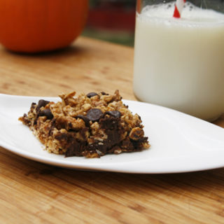 Easy Chewy Pumpkin Spice Chocolate Chip Granola Bars