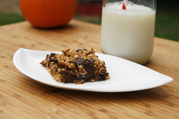 ... Easy Chewy Pumpkin Spice Chocolate Chip Granola Bars for easy grab and