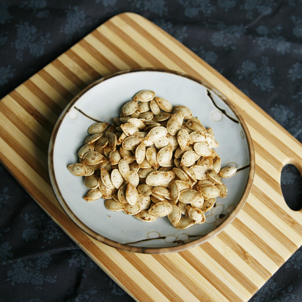 Roasted Five Spice Squash Seeds - Sarah's Cucina Bella