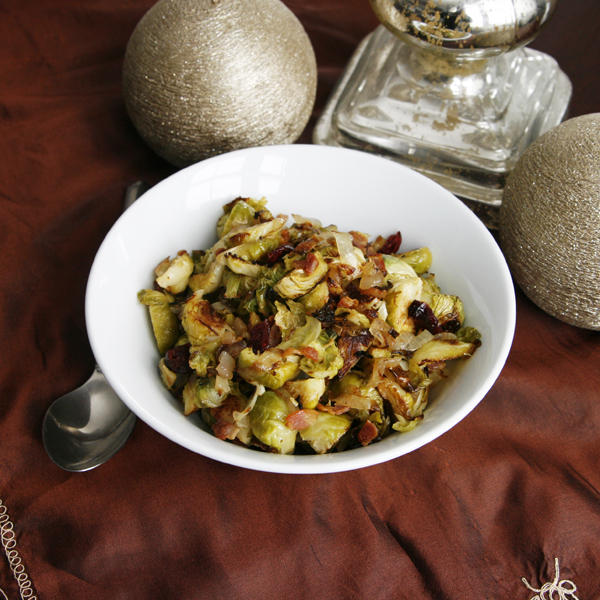 ... brussels sprouts with dried cranberries pecans blue cheese brussels