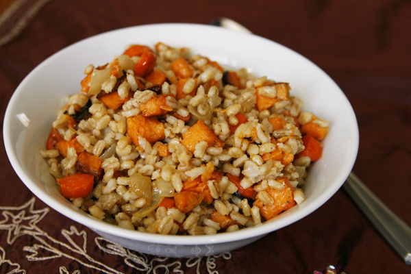 Roasted Vegetable Barley Salad with Lemon Vinaigrette