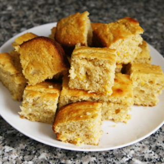 Banana Cornbread with Honey