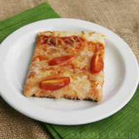 Cheese and Tomato Pizza with Garlic Bread Crust