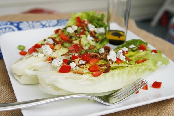 Garlicky Romaine Hearts Salad
