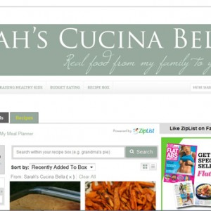 New Features on Sarah's Cucina Bella