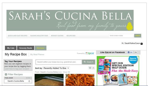 New Features on Sarah's Cucina Bella