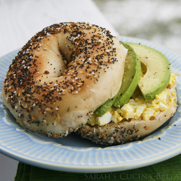 . Creamy. Heavenly. This Avocado Egg Salad Everything Bagel Sandwich ...