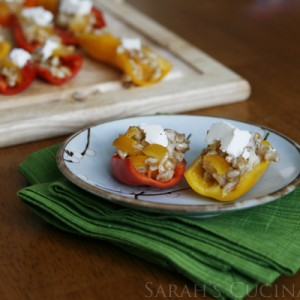 Farro Stuffed Mini Sweet Peppers with Ricotta Salata