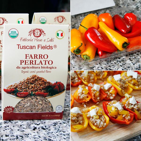 farro stuffed peppers