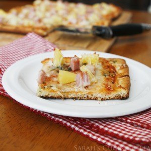 Herb and Cheese Crust Hawaiian Pizza