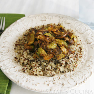 Thai Red Curry Roasted Vegetables over Quinoa