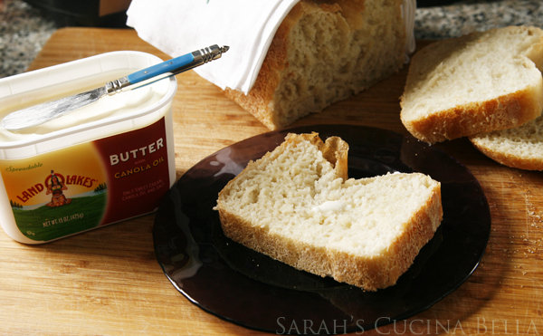 Country White Bread with Land O Lakes Butter