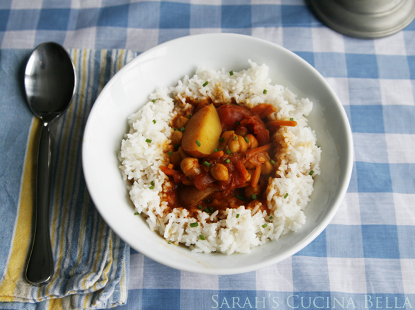 Curried Chickpea and Vegetable Stew-3