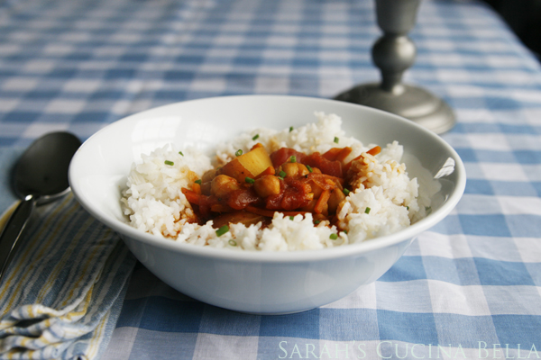 Curried Chickpea and Vegetable Stew