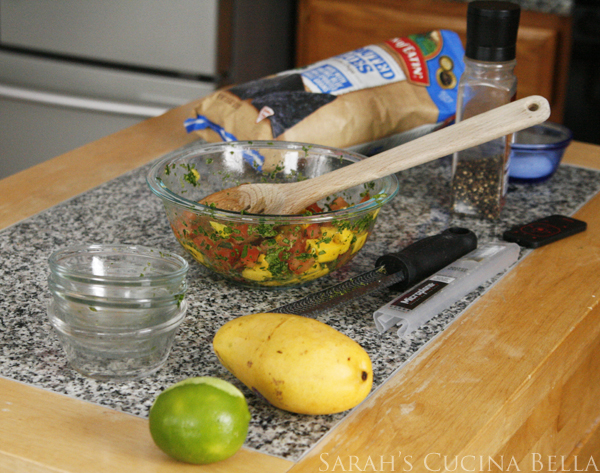 Making Spicy Mango Salsa