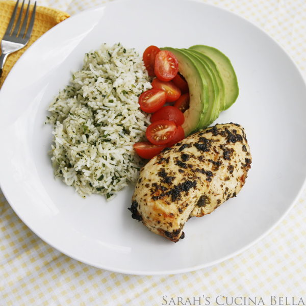 Cilantro Lime Chicken and Rice with Avocado and Tomatoes ...