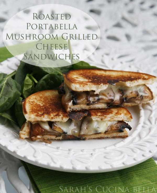 roasted portabella grilled cheese