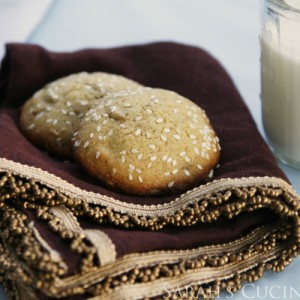 Sunflower Sesame Sugar Cookies