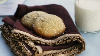 Sunflower Sesame Sugar Cookies
