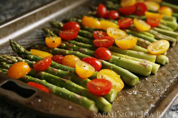asparagus ready to roast