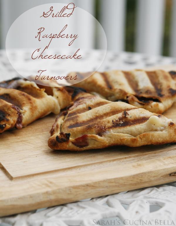 Grilled Raspberry Cheesecake Turnovers