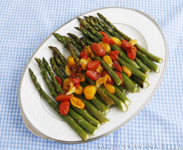 roasted asparagus with tomatoes-2
