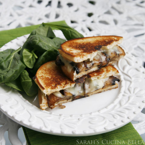 Roasted Portabella Mushroom Grilled Cheese