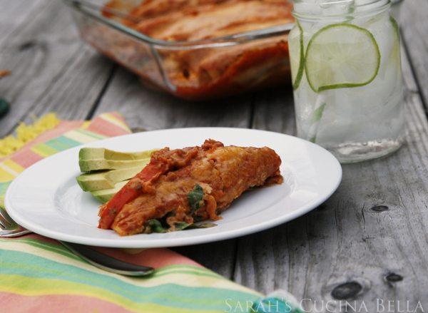 Veggie and Bean Enchiladas
