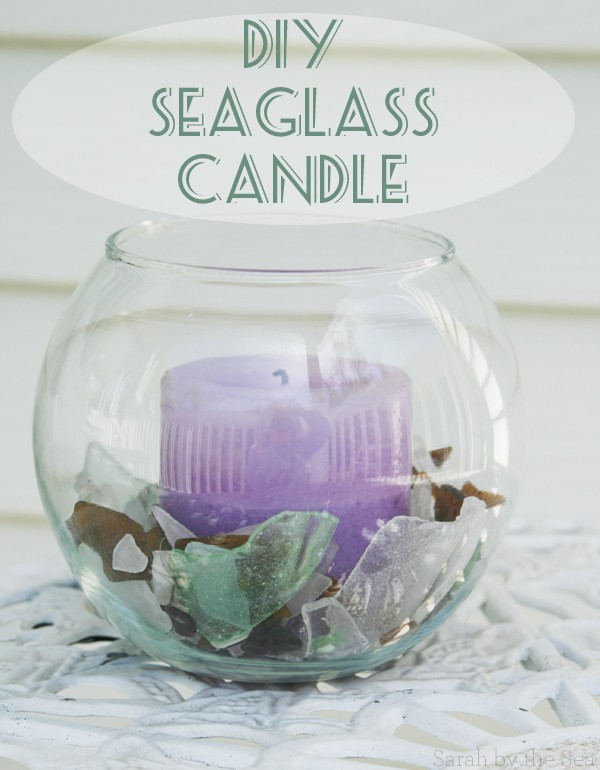 DIY Seaglass Candle