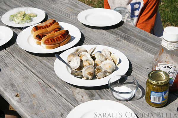 how to cook clams on the grill