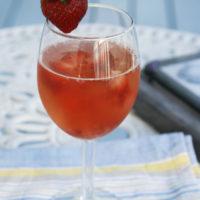 Strawberry Moscato Sparkler
