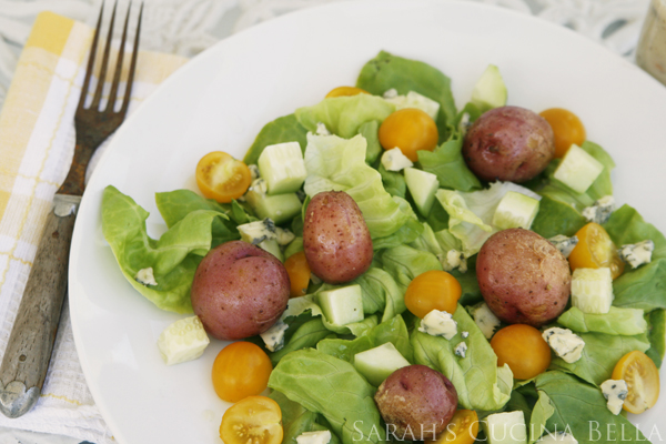 Warm Salad with Grilled New Potatoes