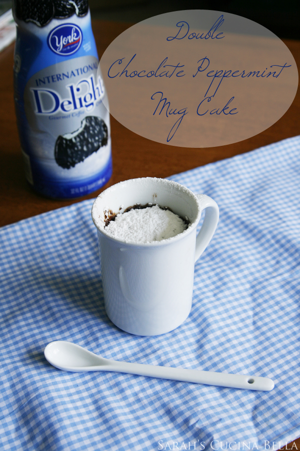 double chocolate peppermint mug cake
