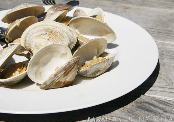 grilled garlic butter clams-2