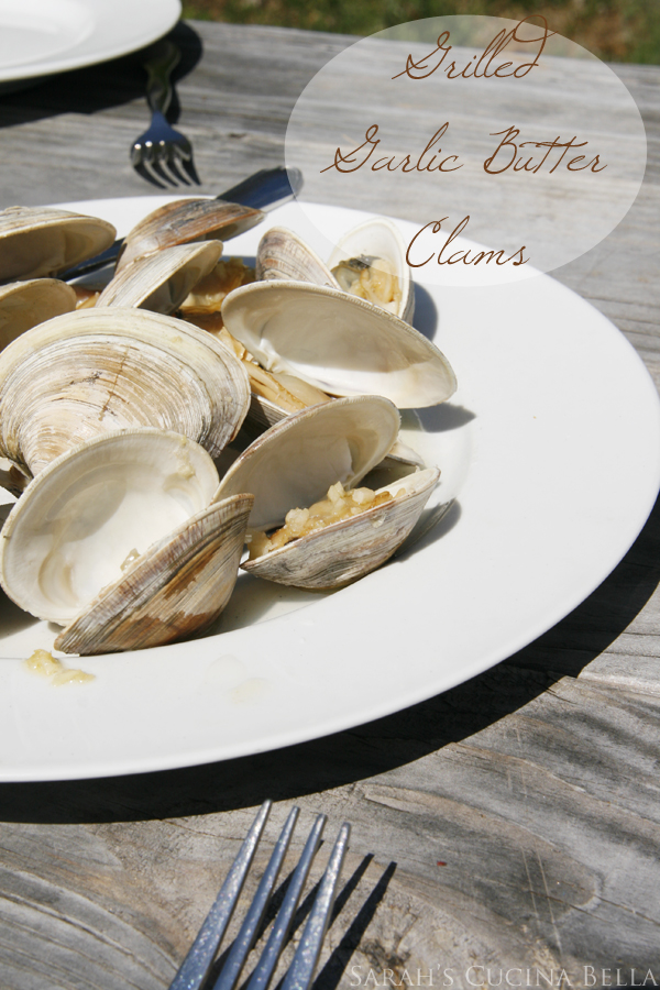 Grilled Garlic Butter Clams