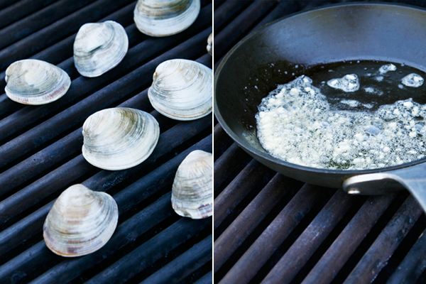 Grilling Clams