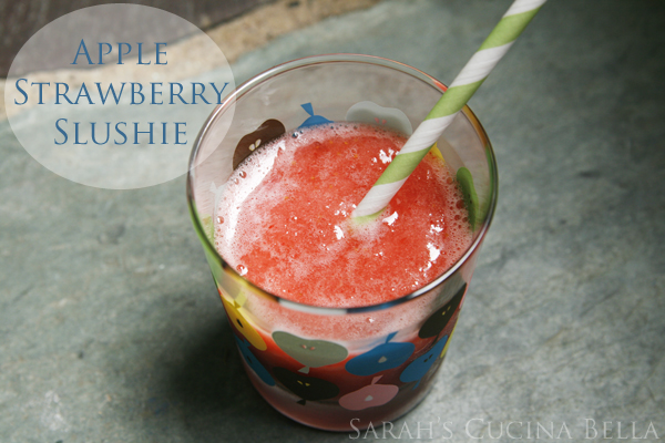 Apple Strawberry Slushies