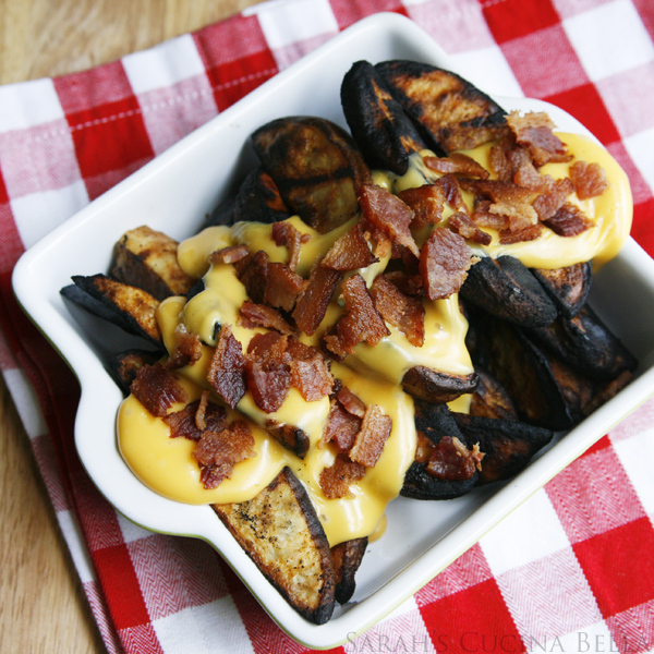 Cheesy Bacon Grilled Potato Wedges 2