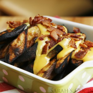 Cheesy Bacon Grilled Potato Wedges with Velveeta