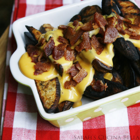 Cheesy Bacon Grilled Potato Wedges