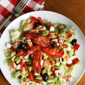 Lobster Salad with Avocado, Feta and Lemon Vinaigrette