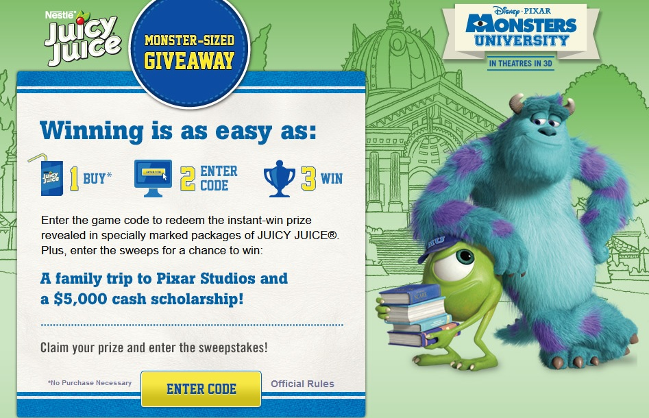 Monsters University Giveaway