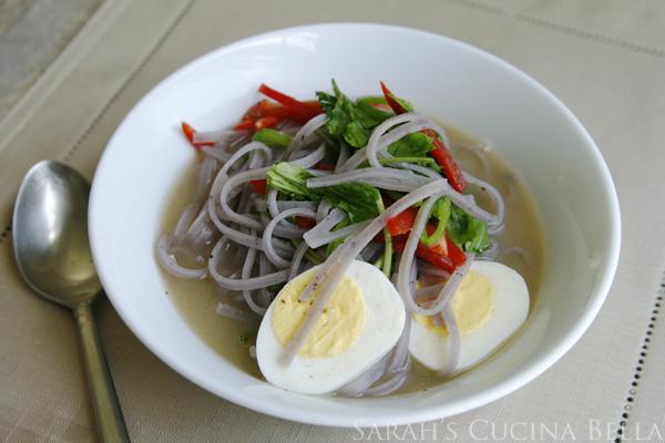 summer veggie miso noodle soup